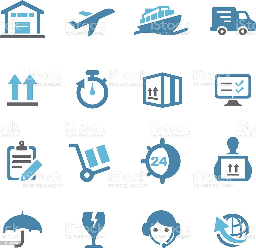 Shipping and Logistics Icons - Conc Series vector art illustration