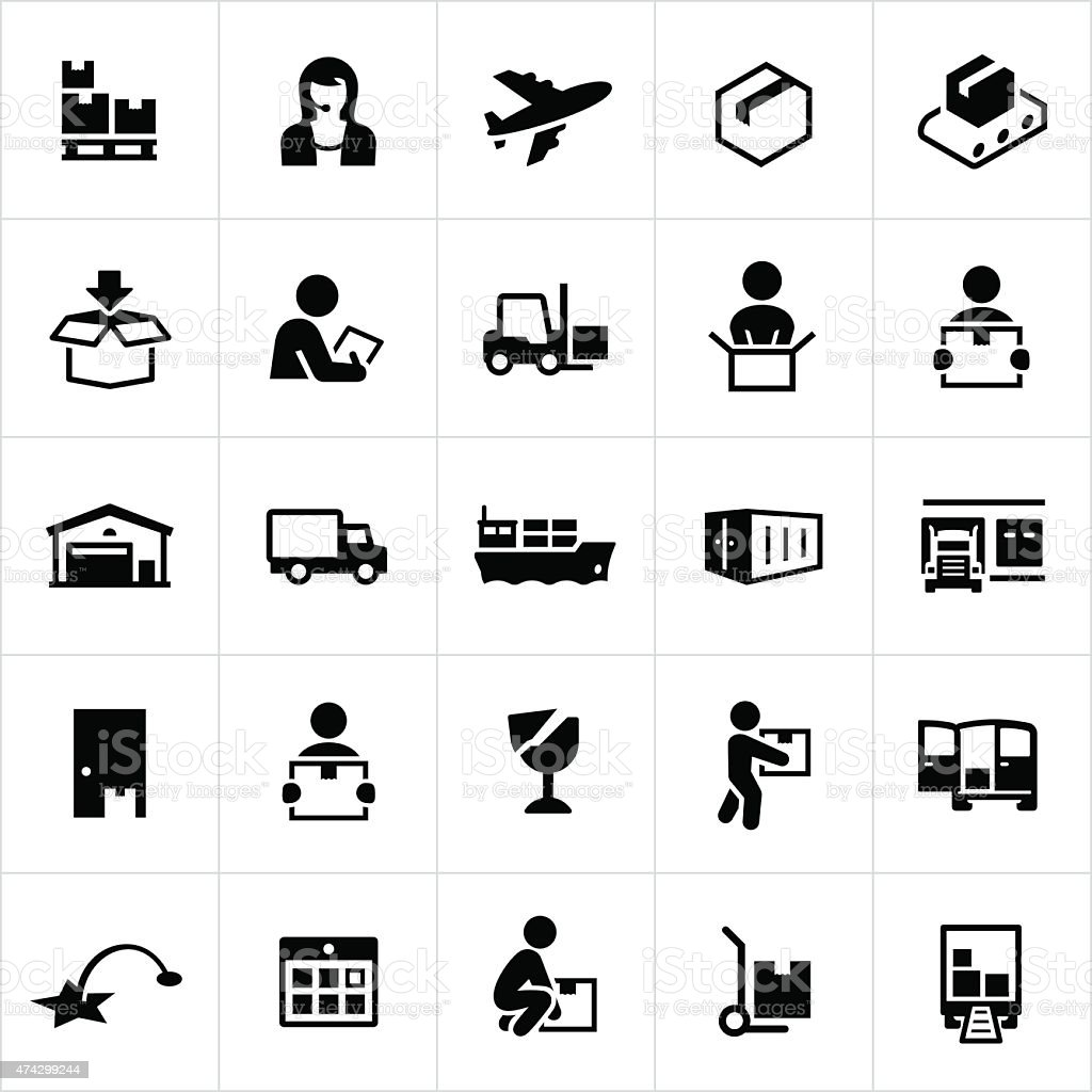 Shipping and Logistics Icons vector art illustration
