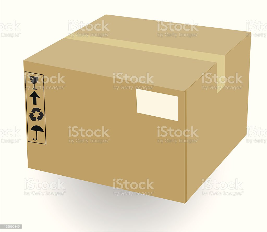 Shipping Box - VECTORv royalty-free stock vector art