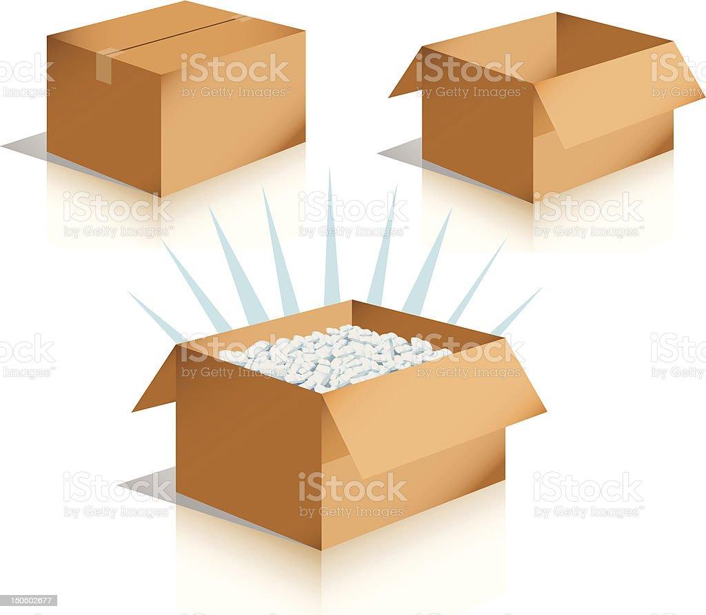 Shipping Boxes [vector] royalty-free stock vector art