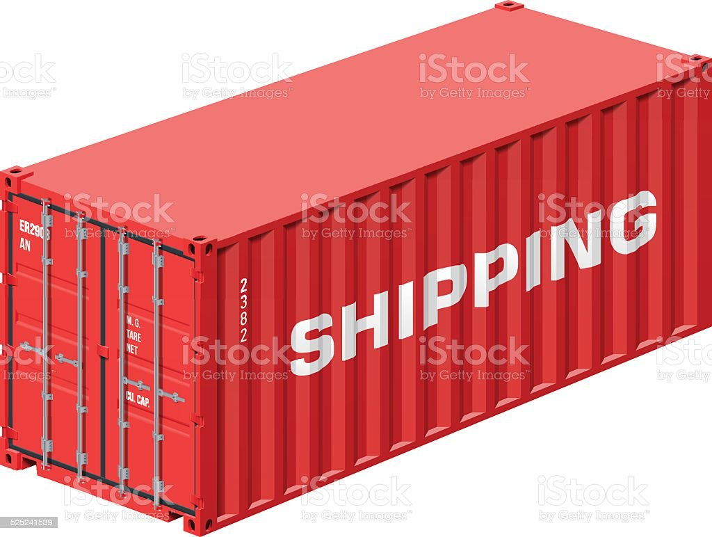 Shipping container vector art illustration