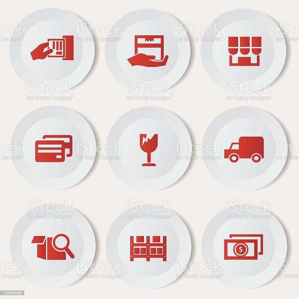 Shipping icon set,vector royalty-free stock vector art