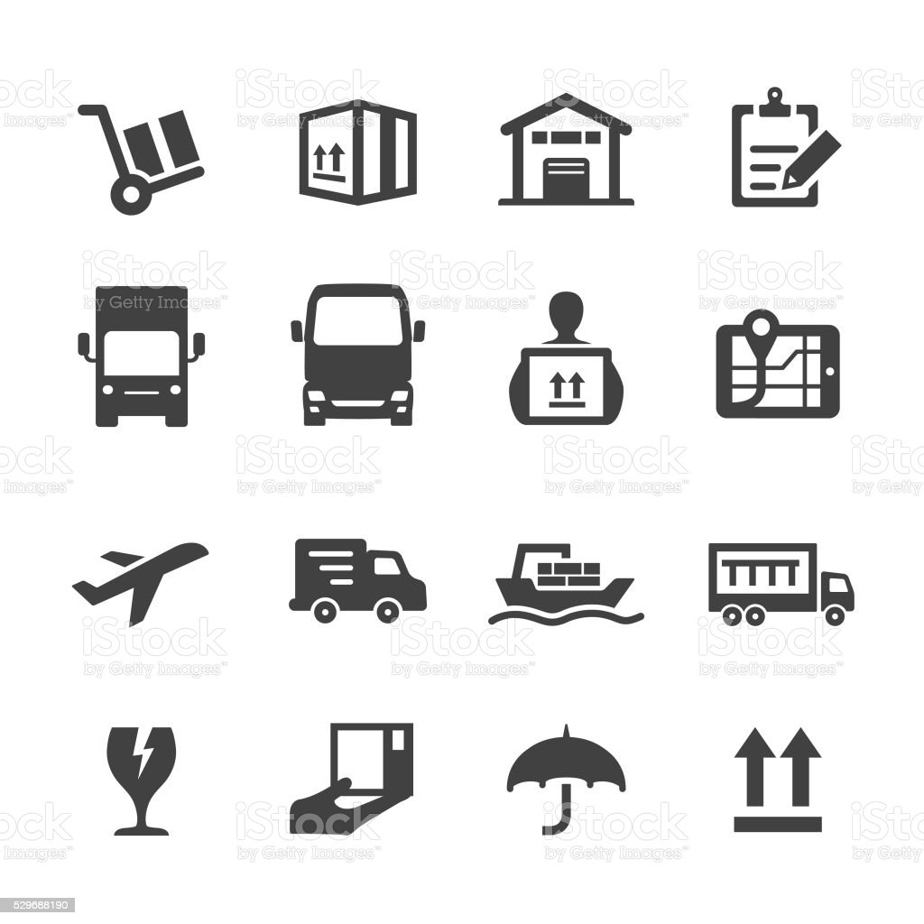 Shipping Icons - Acme Series vector art illustration