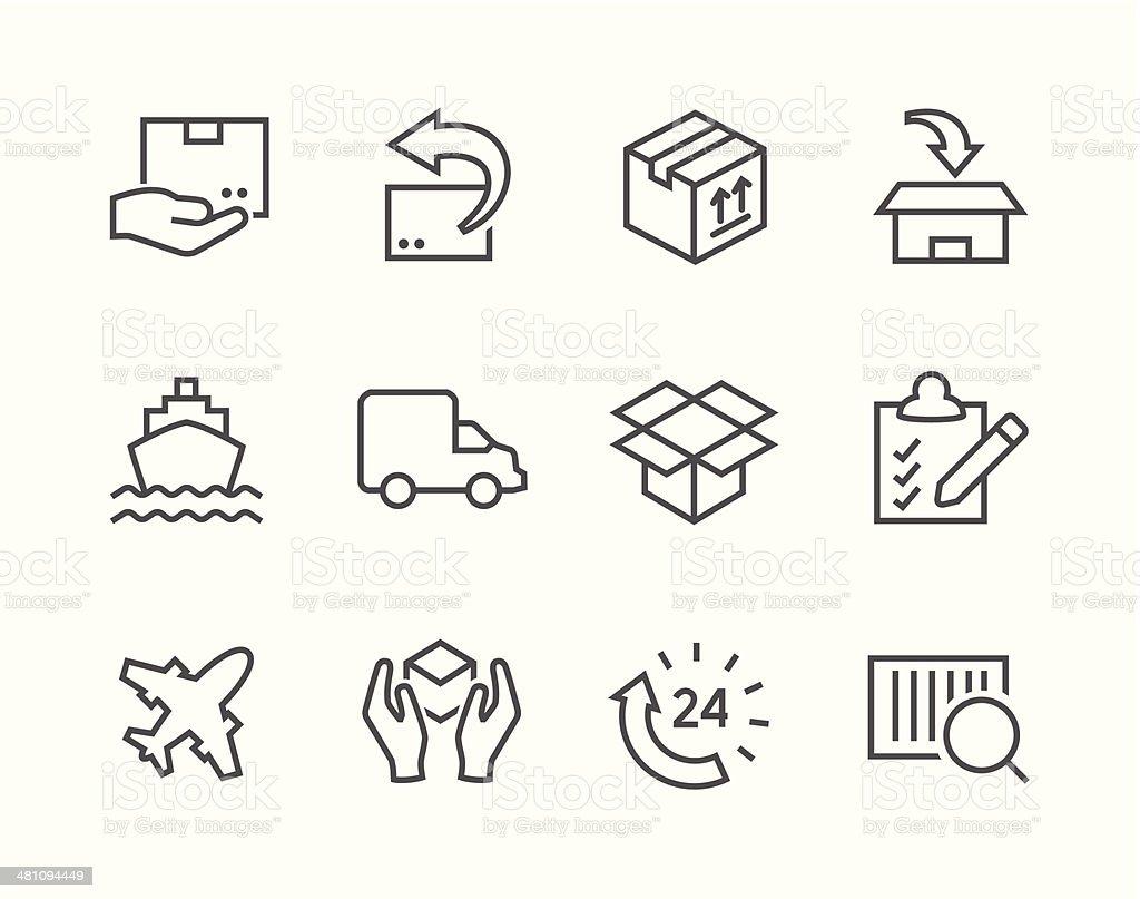 Shipping icons vector art illustration