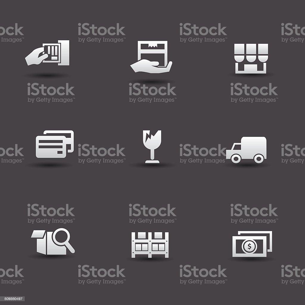Shipping icons,vector royalty-free stock vector art