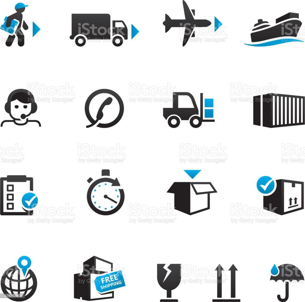 Shipping & Logistics Icons vector art illustration