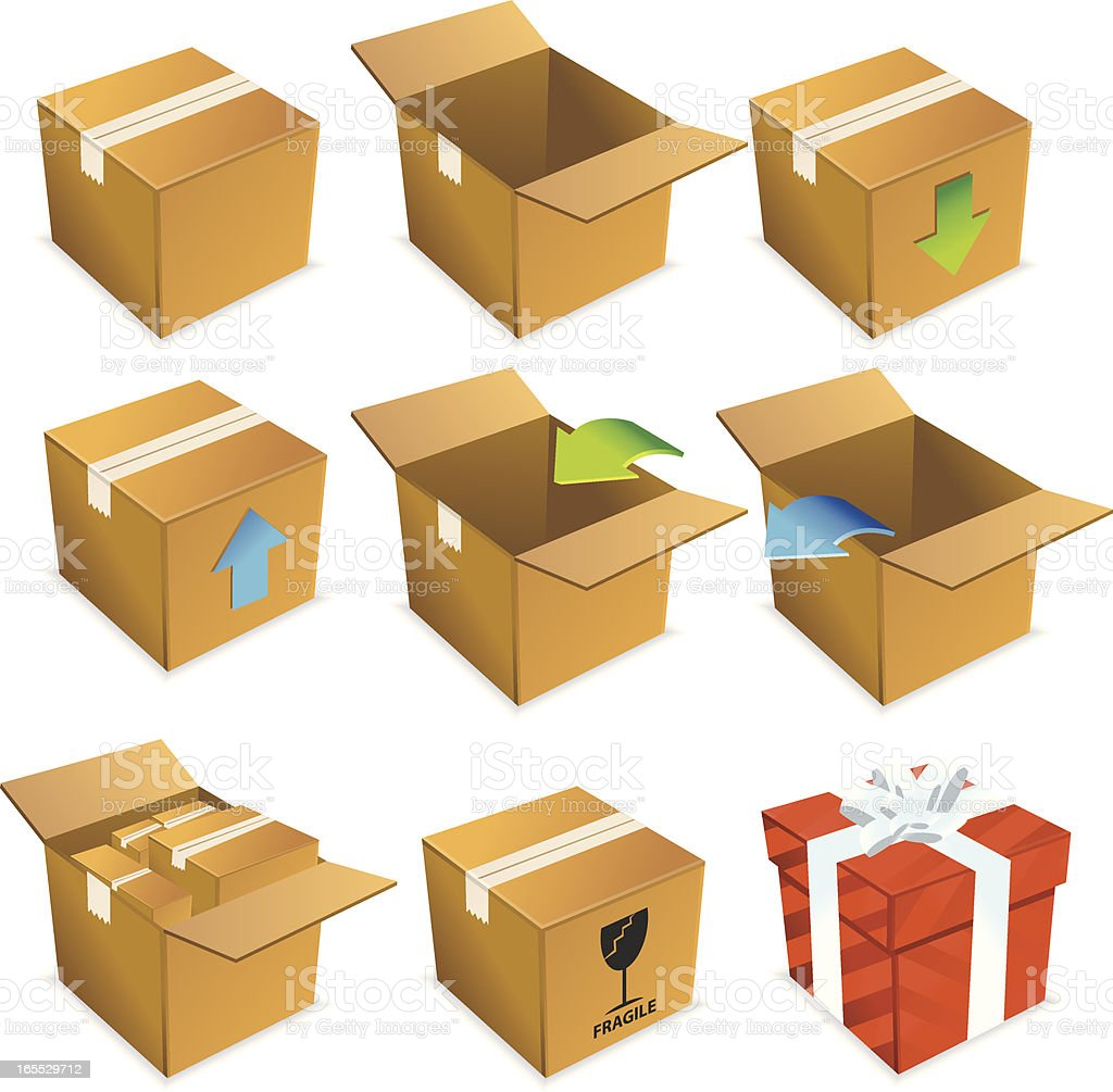 Shipping & Packaging | Isometric Series royalty-free stock vector art
