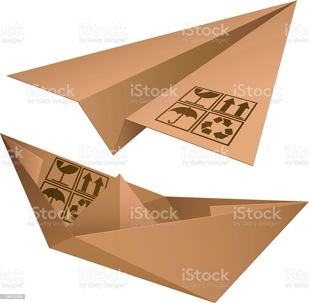Shipping symbols. royalty-free stock vector art