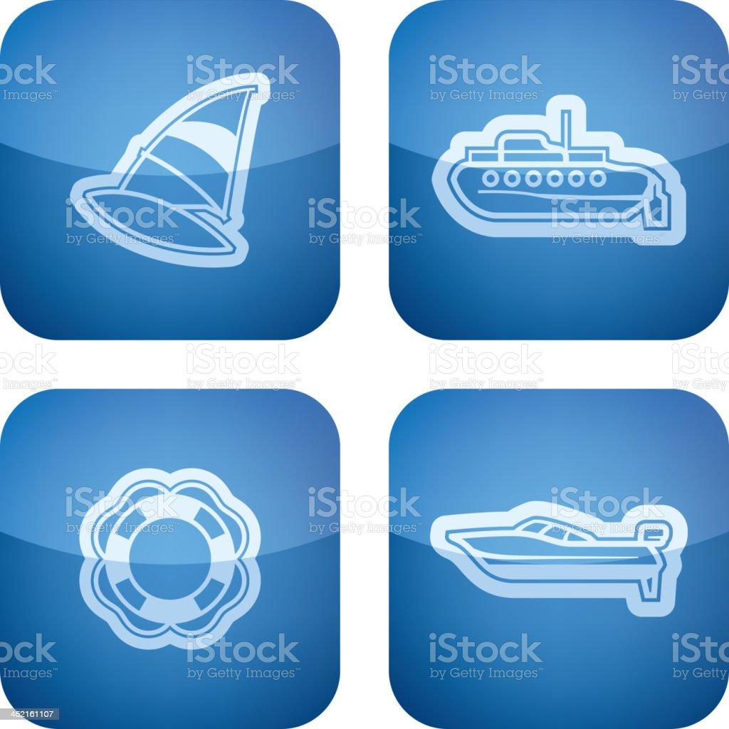 Ships and boats royalty-free stock vector art