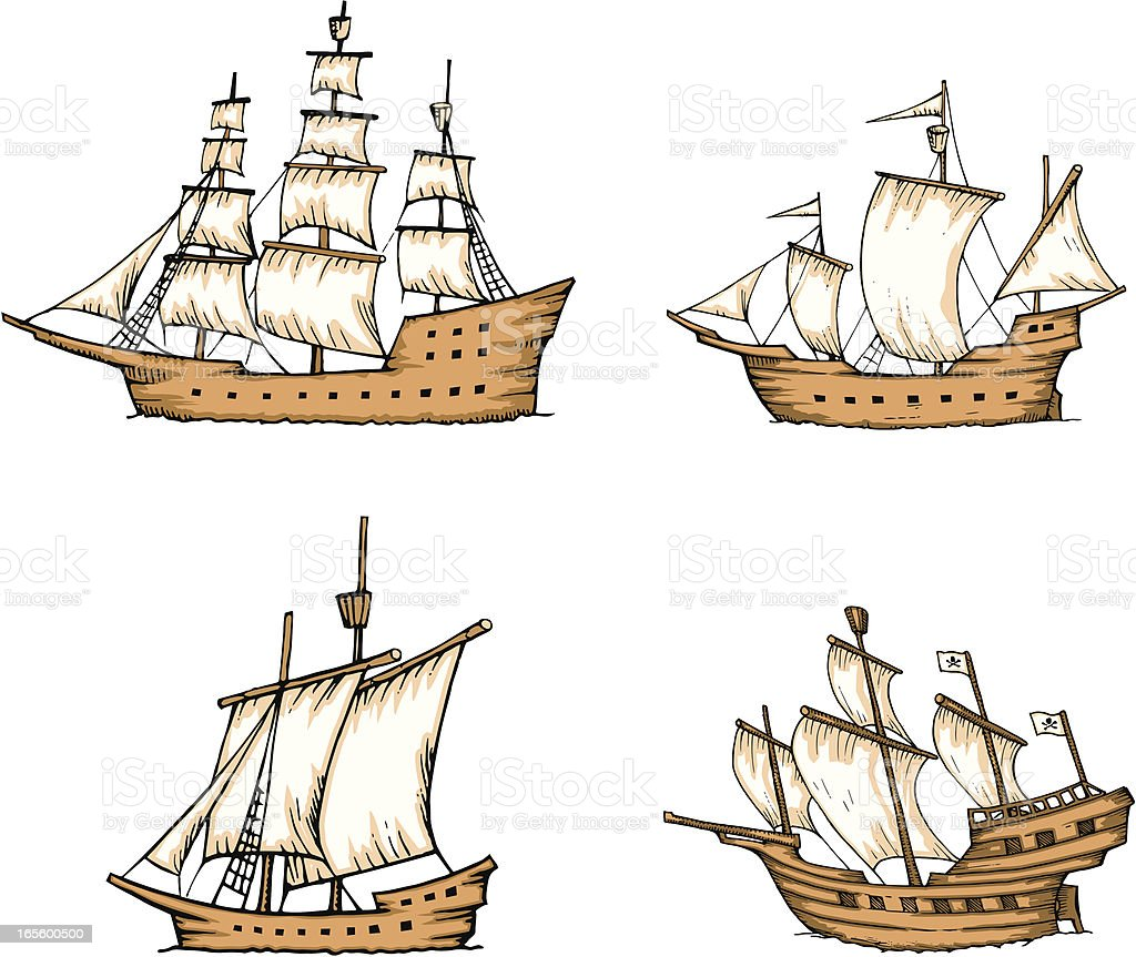Ships and Galleons royalty-free stock vector art