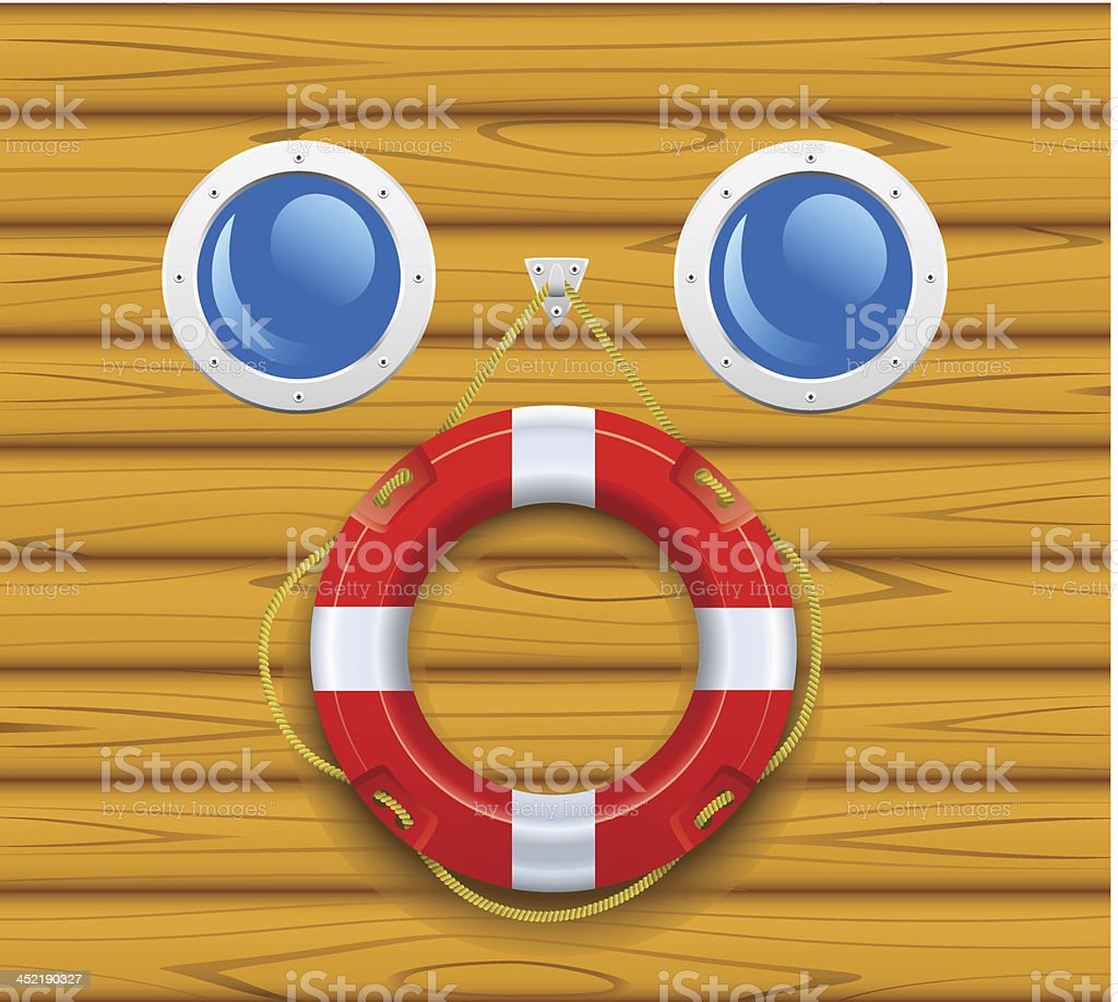 Ship's lifering. royalty-free stock vector art