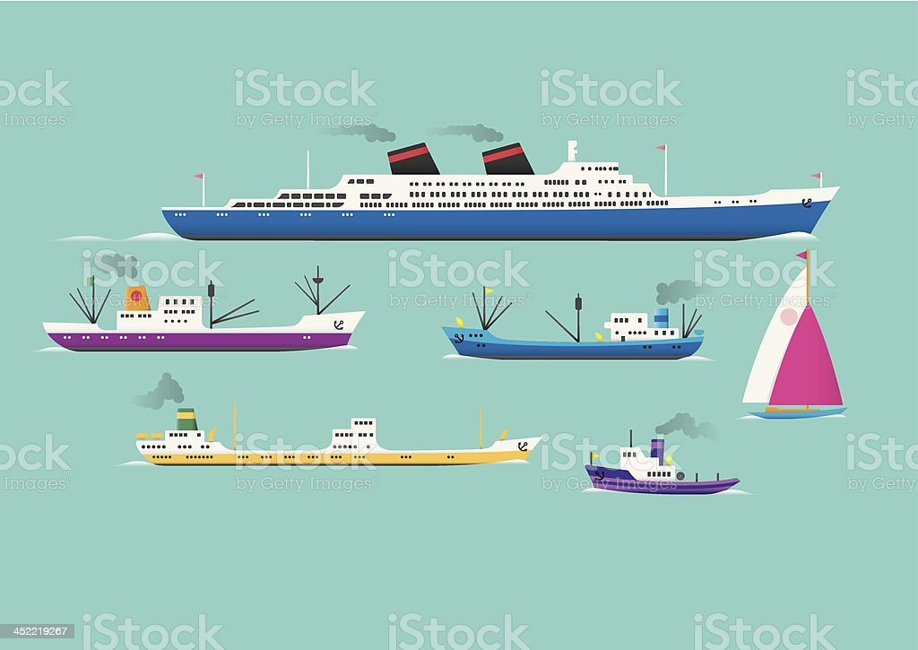 Ships royalty-free stock vector art