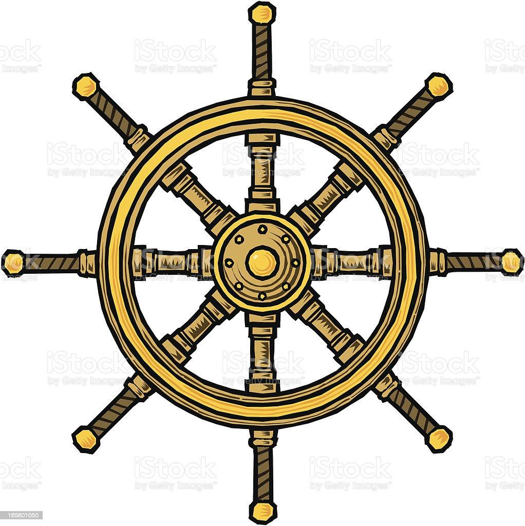 Ship's Wheel vector art illustration