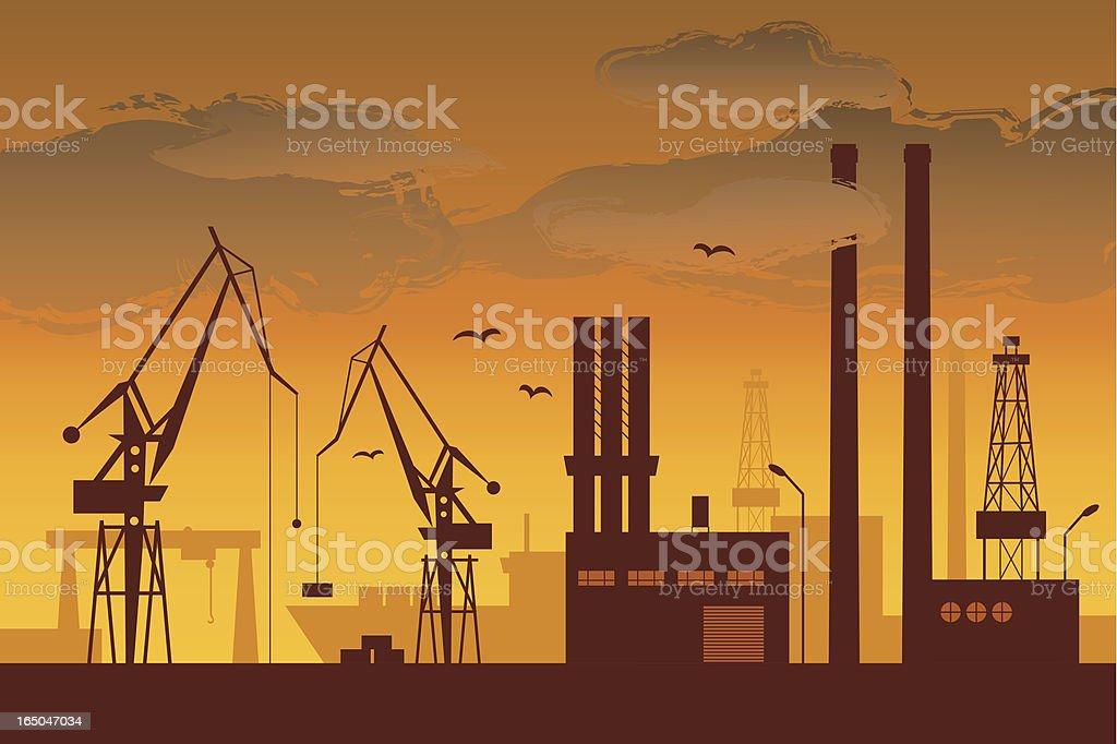 Shipyard royalty-free stock vector art