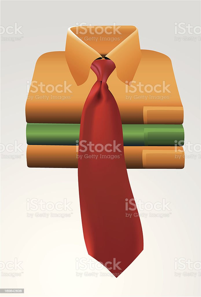 shirt and necktie royalty-free stock vector art