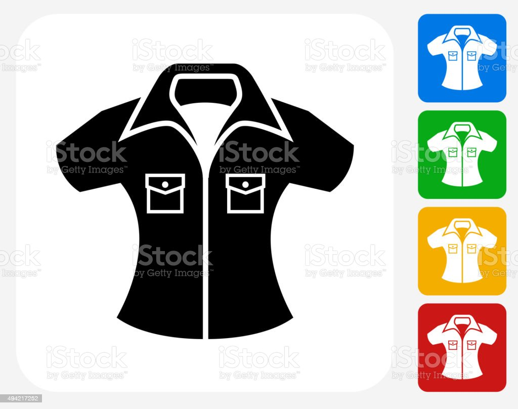 Shirt Icon Flat Graphic Design vector art illustration