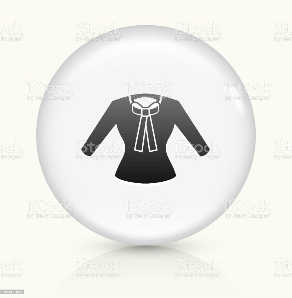 Shirt icon on white round vector button vector art illustration