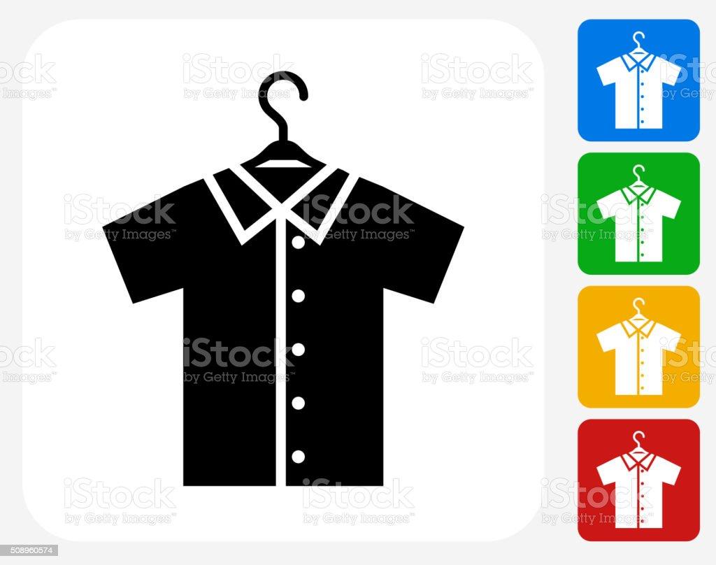 Shirt on Hanger Icon Flat Graphic Design vector art illustration