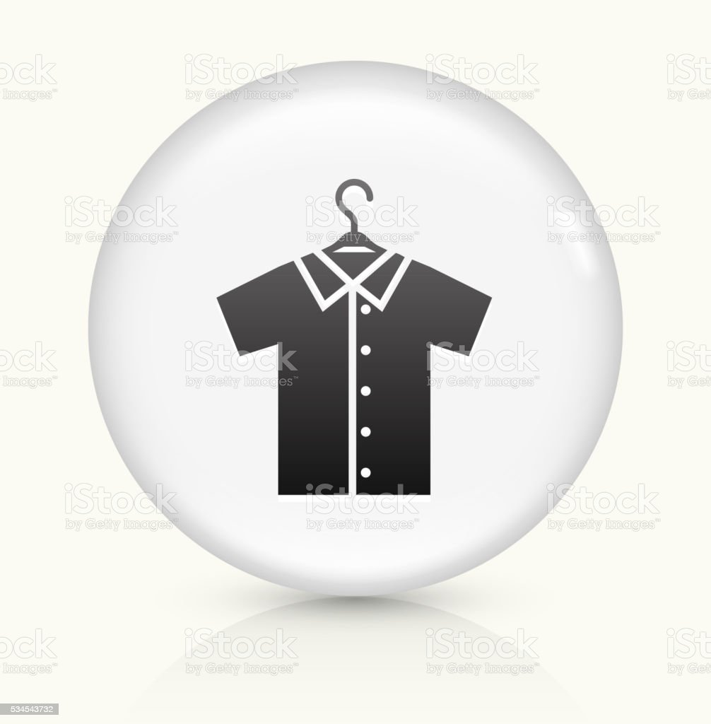 Shirt on Hanger icon on white round vector button vector art illustration