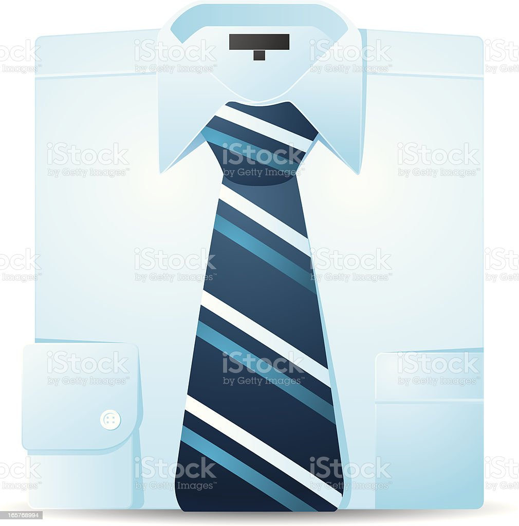 Shirt with Tie royalty-free stock vector art