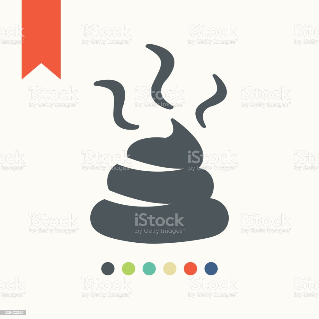 Shit sign icon vector art illustration