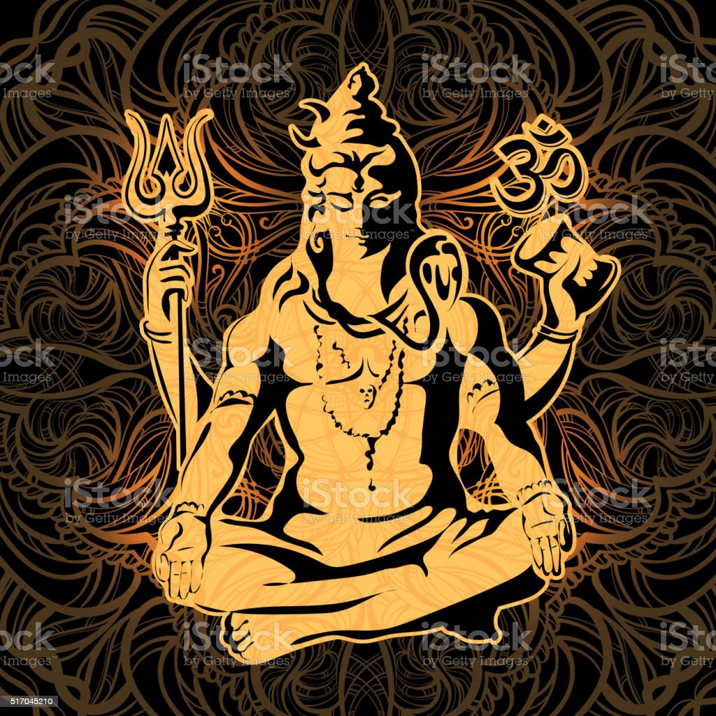Shiva. Maha Shivaratri. vector art illustration