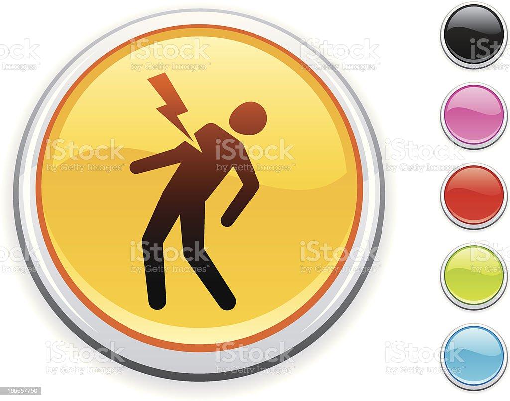 Shock icon vector art illustration