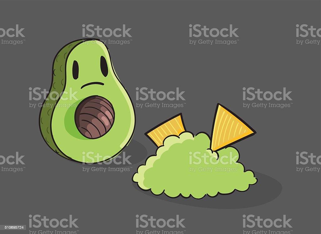 Shocked Avocado vector illustration vector art illustration