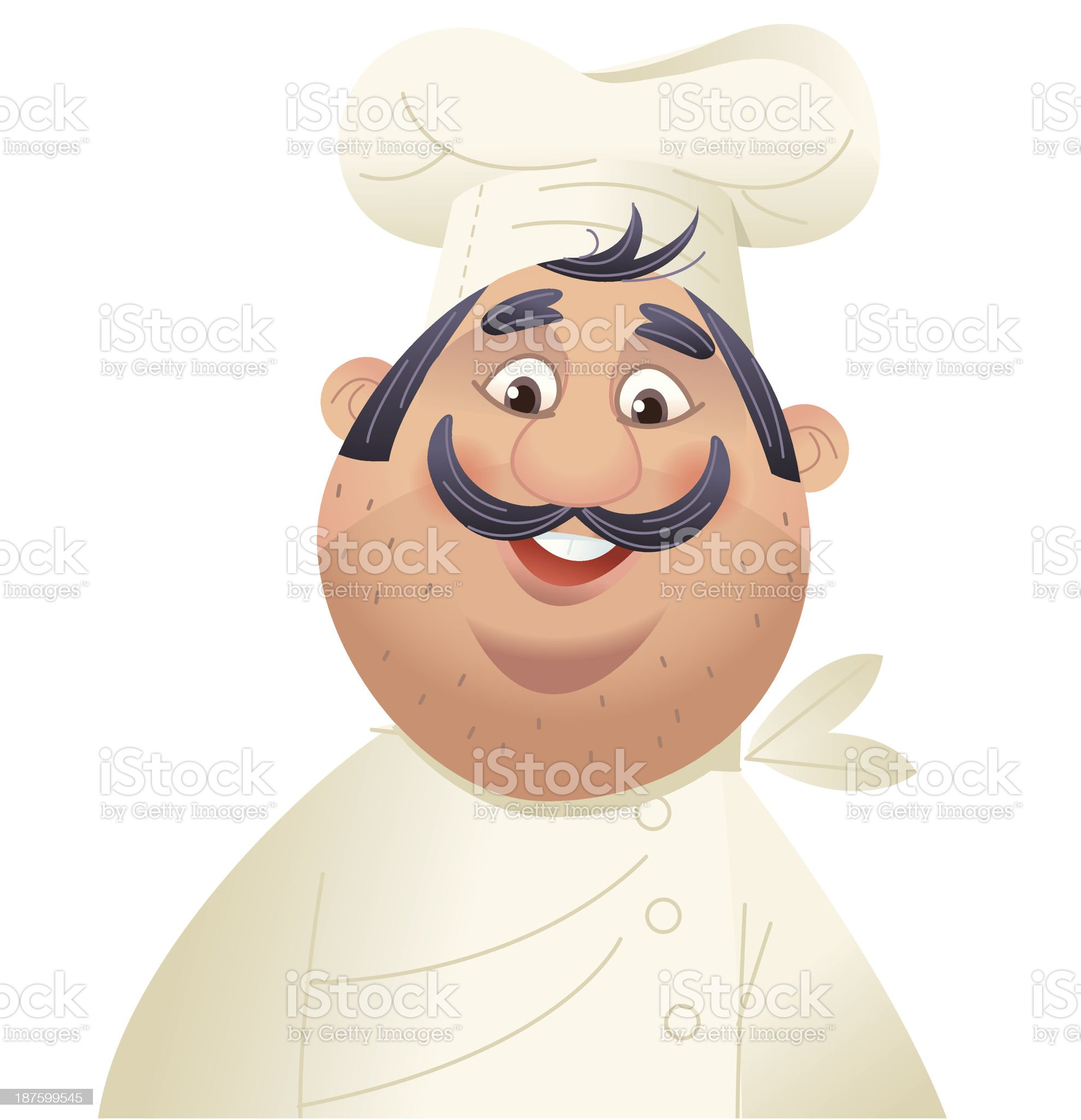 Shocked Chef royalty-free stock vector art