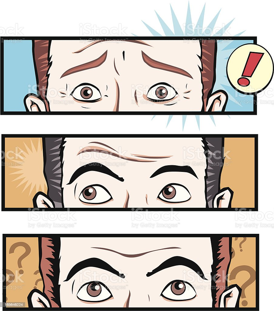 Shocked Man royalty-free stock vector art