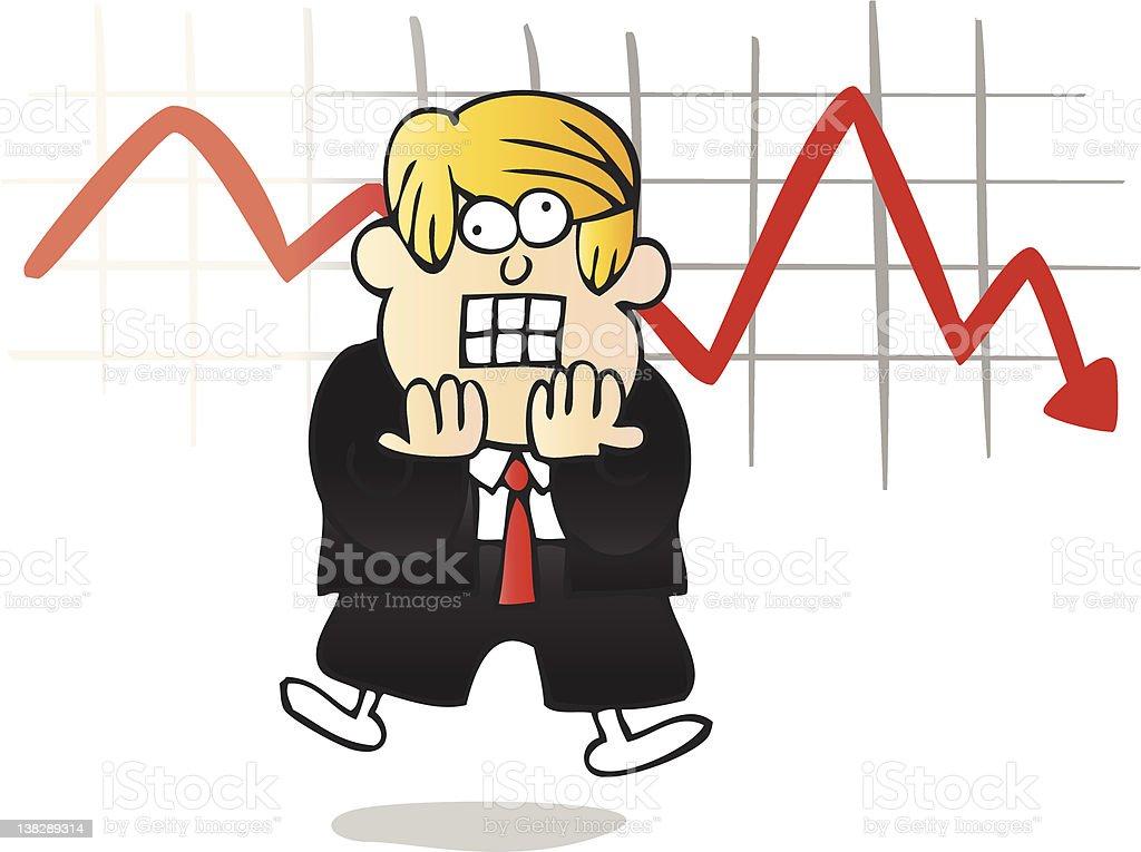 Shocked poor Businessman illustration, cartoon royalty-free stock vector art
