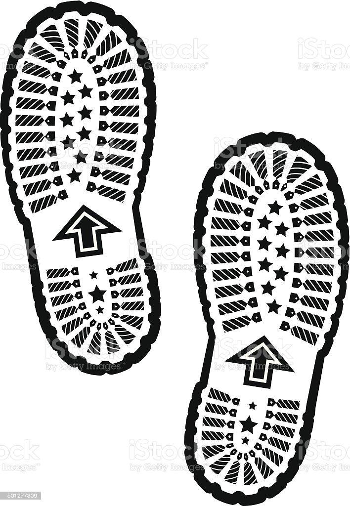 Shoe print royalty-free stock vector art