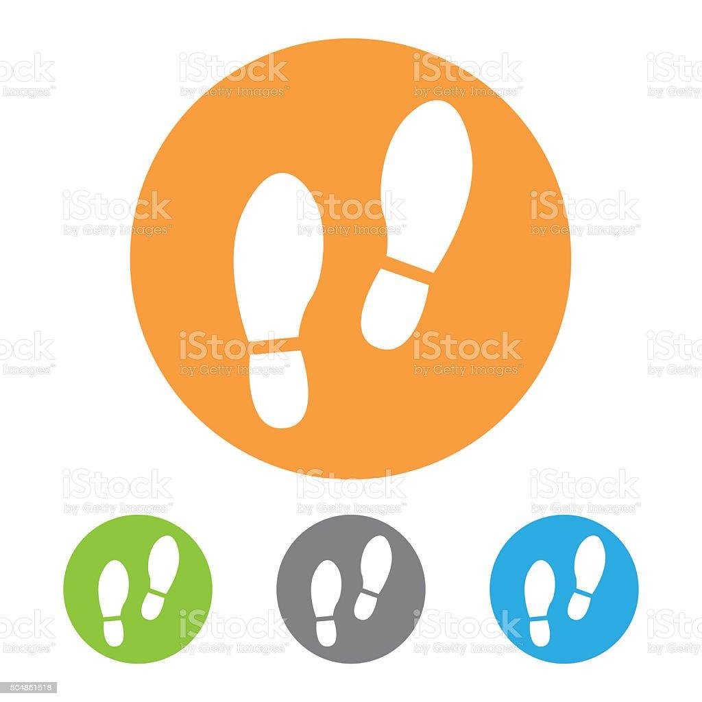 Shoe prints icon. Vector stock photo