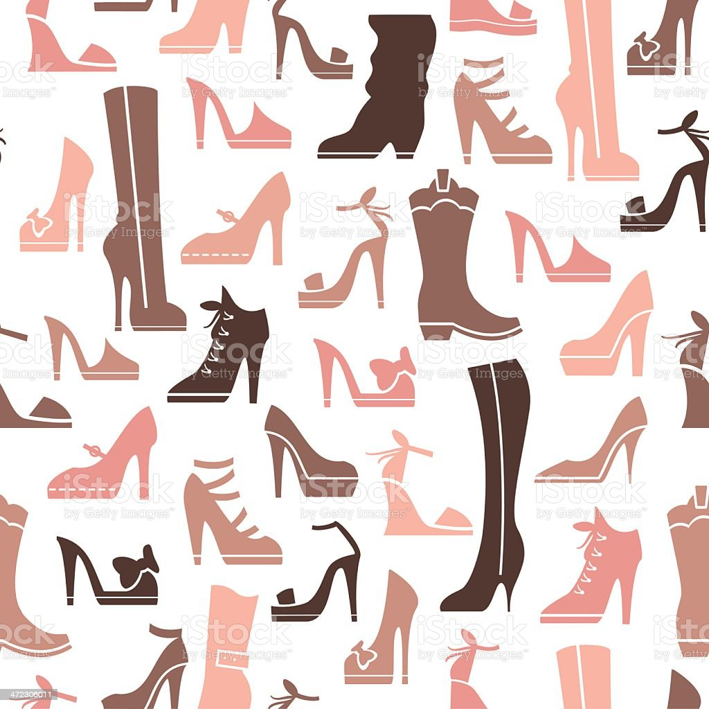 Shoe Repeat Pattern vector art illustration