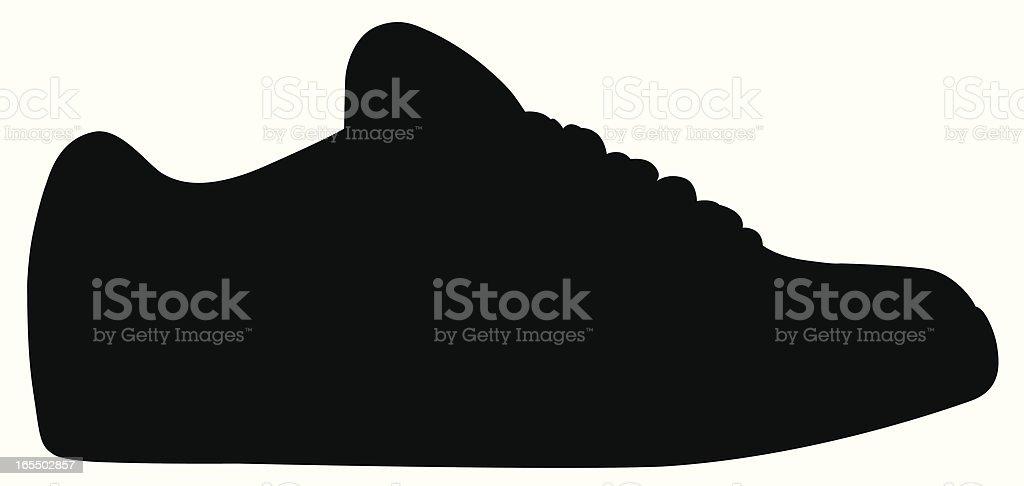 shoe silhouette vector art illustration