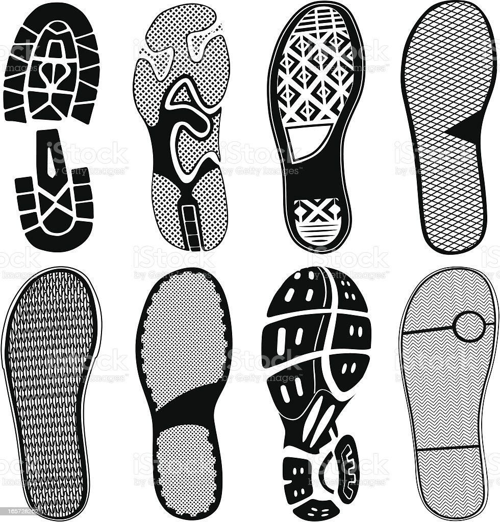 Shoe Traces royalty-free stock vector art