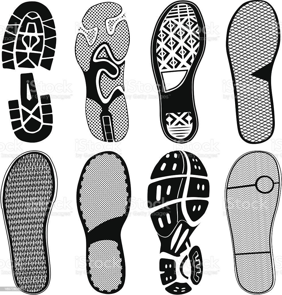 Shoe Traces vector art illustration