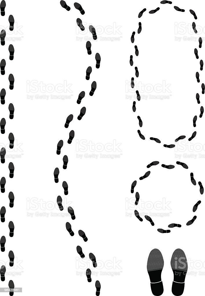 Shoe Tracks royalty-free stock vector art