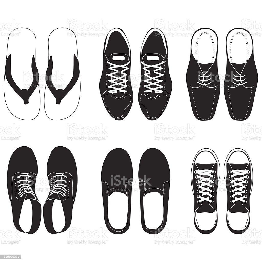 shoe vector set vector art illustration