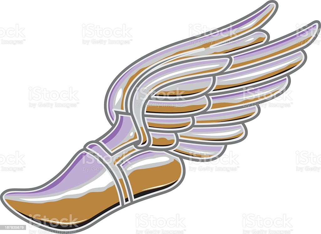Shoe With Wings royalty-free stock vector art