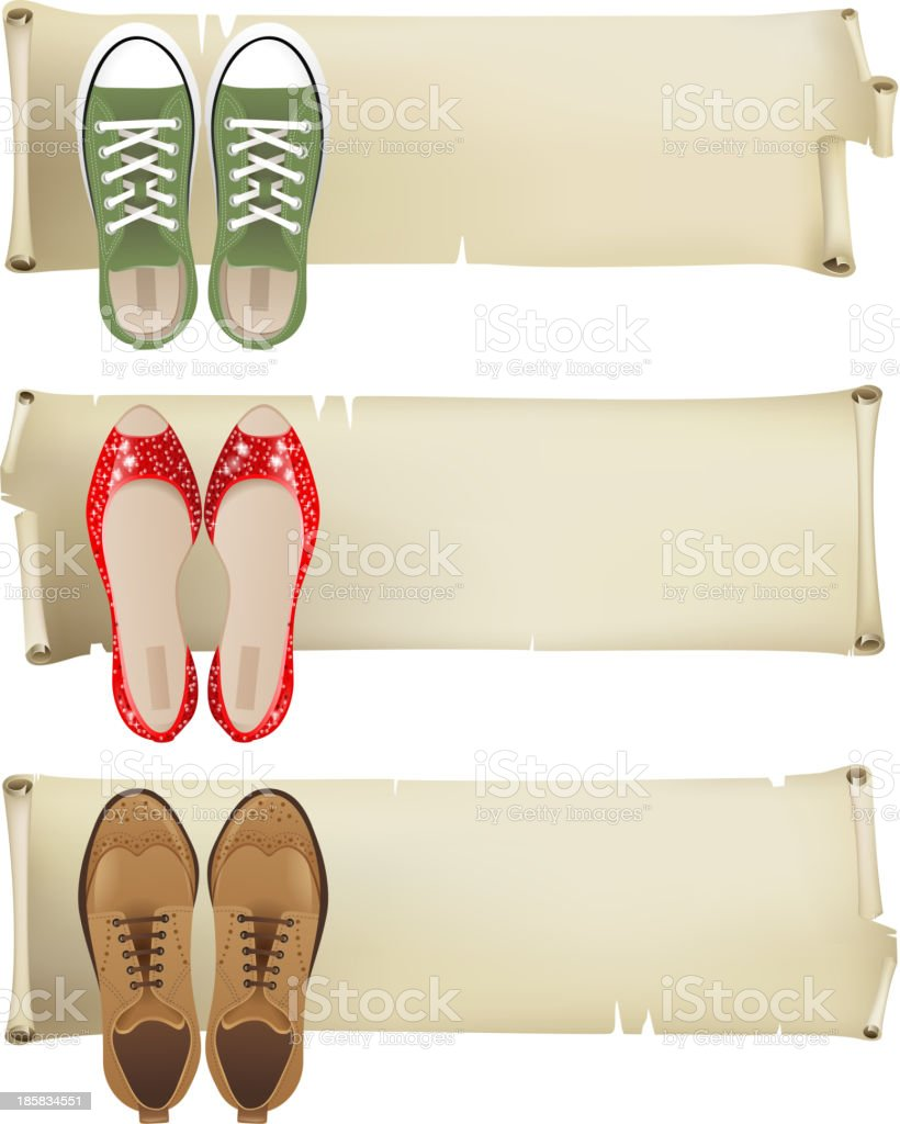 Shoes banners royalty-free stock vector art