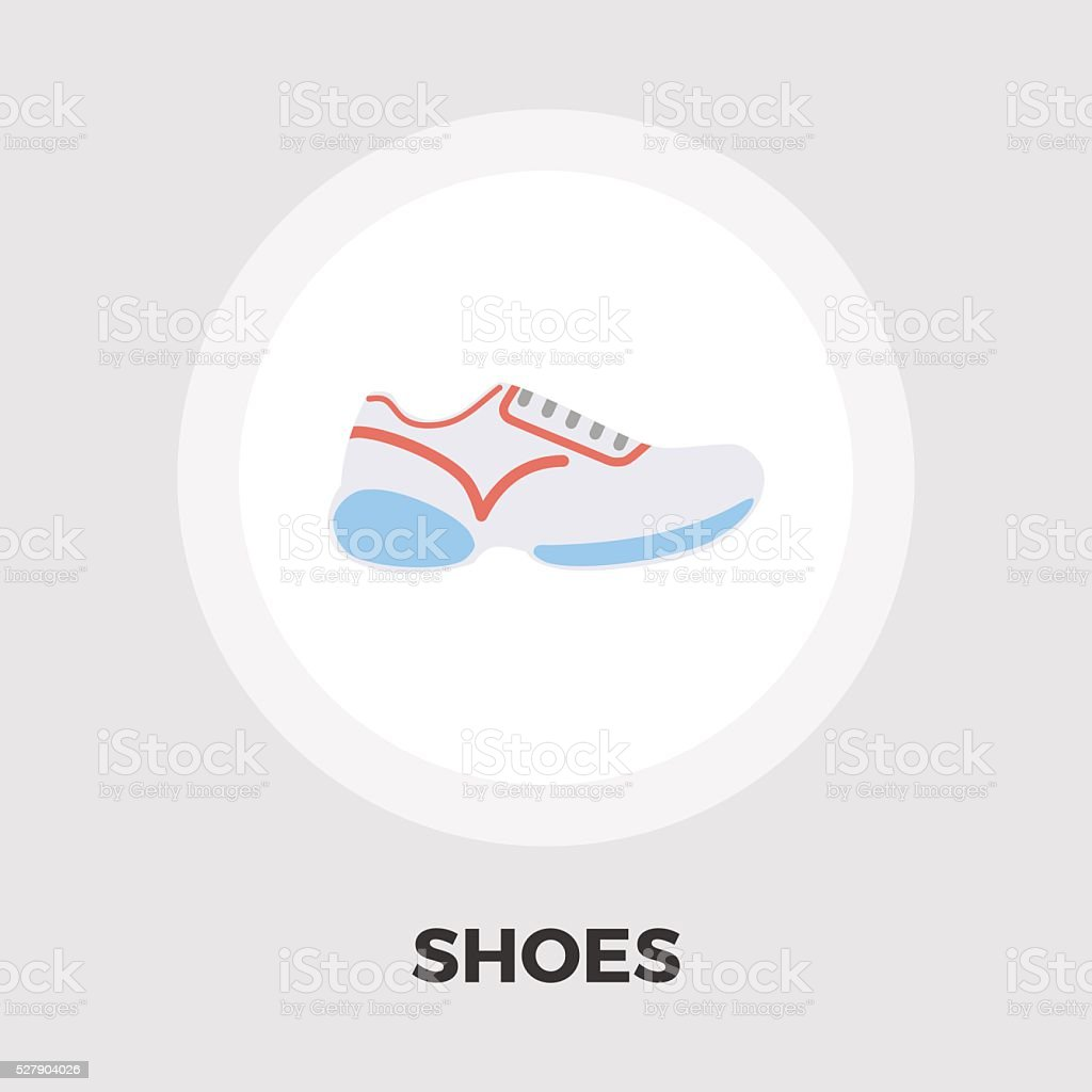 Shoes icon flat vector art illustration
