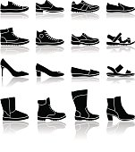 Shoes icons - illustration