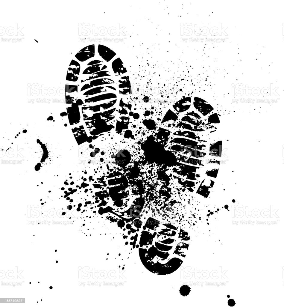 Shoes silhouette background vector art illustration