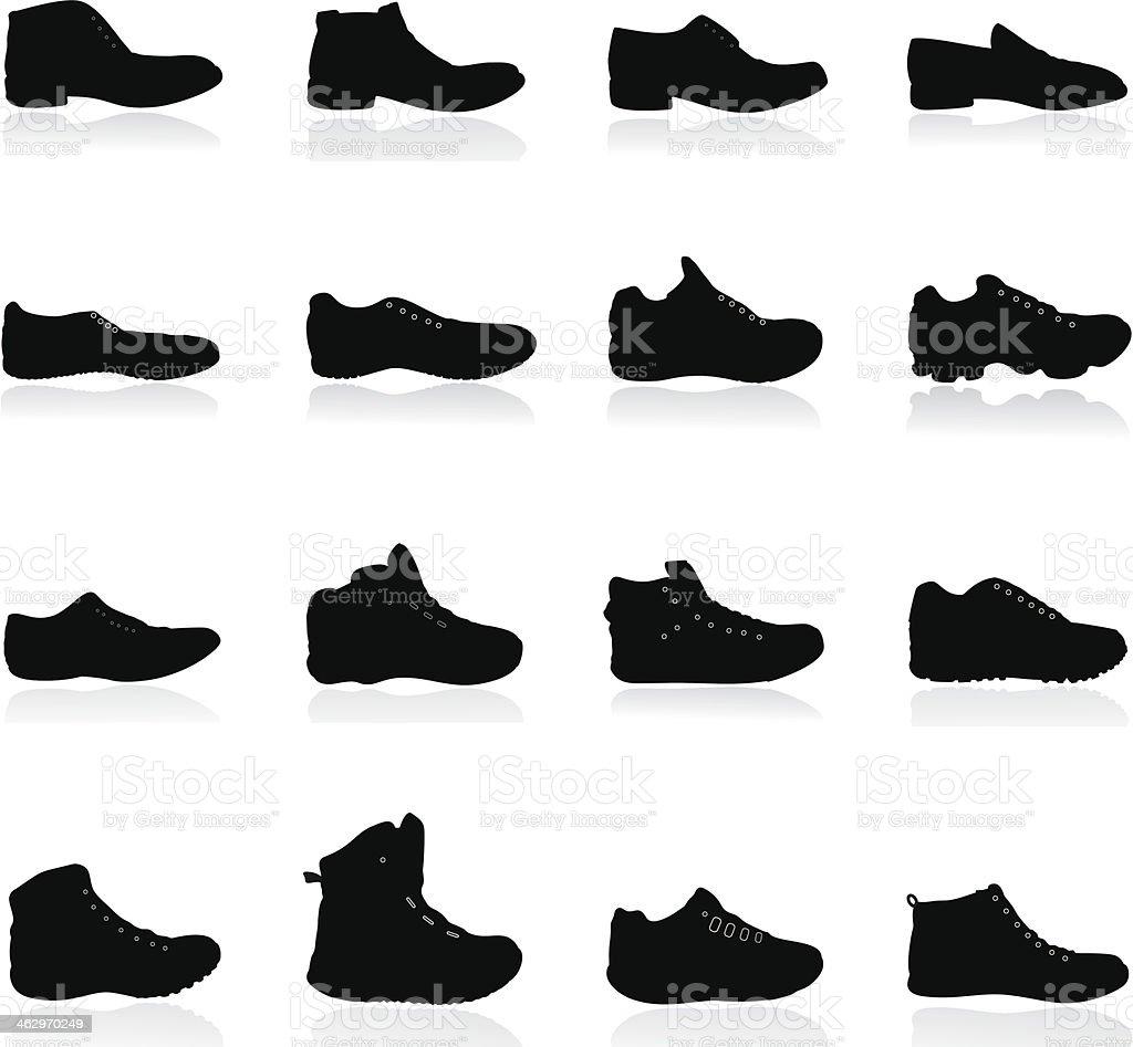 Shoes silhouette - Illustration vector art illustration