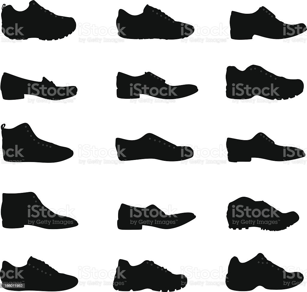 Shoes silhouette royalty-free stock vector art