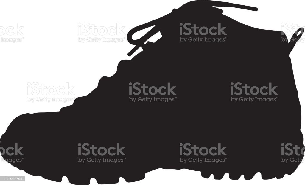 Shoes silhouette vector art illustration