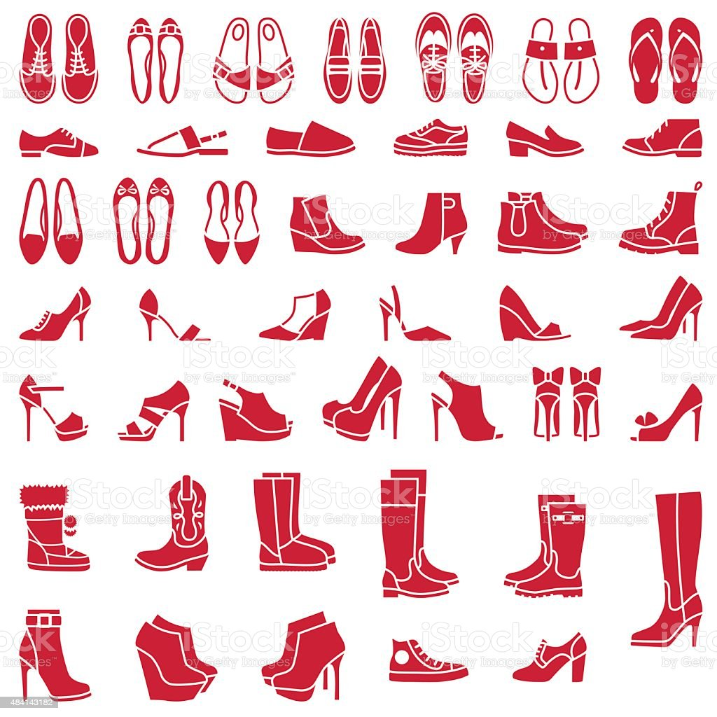 Shoes vector art illustration