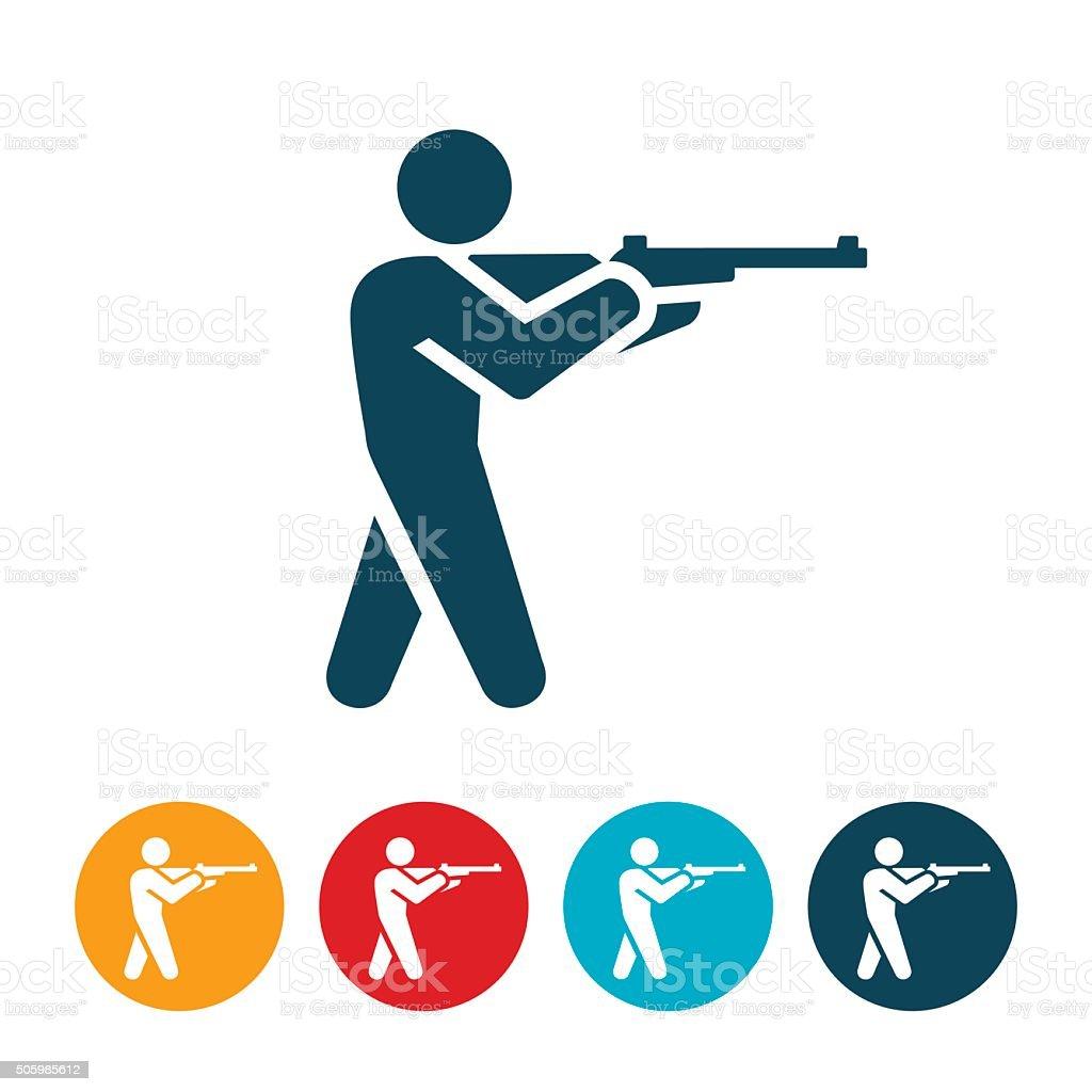 Shooting Icon vector art illustration