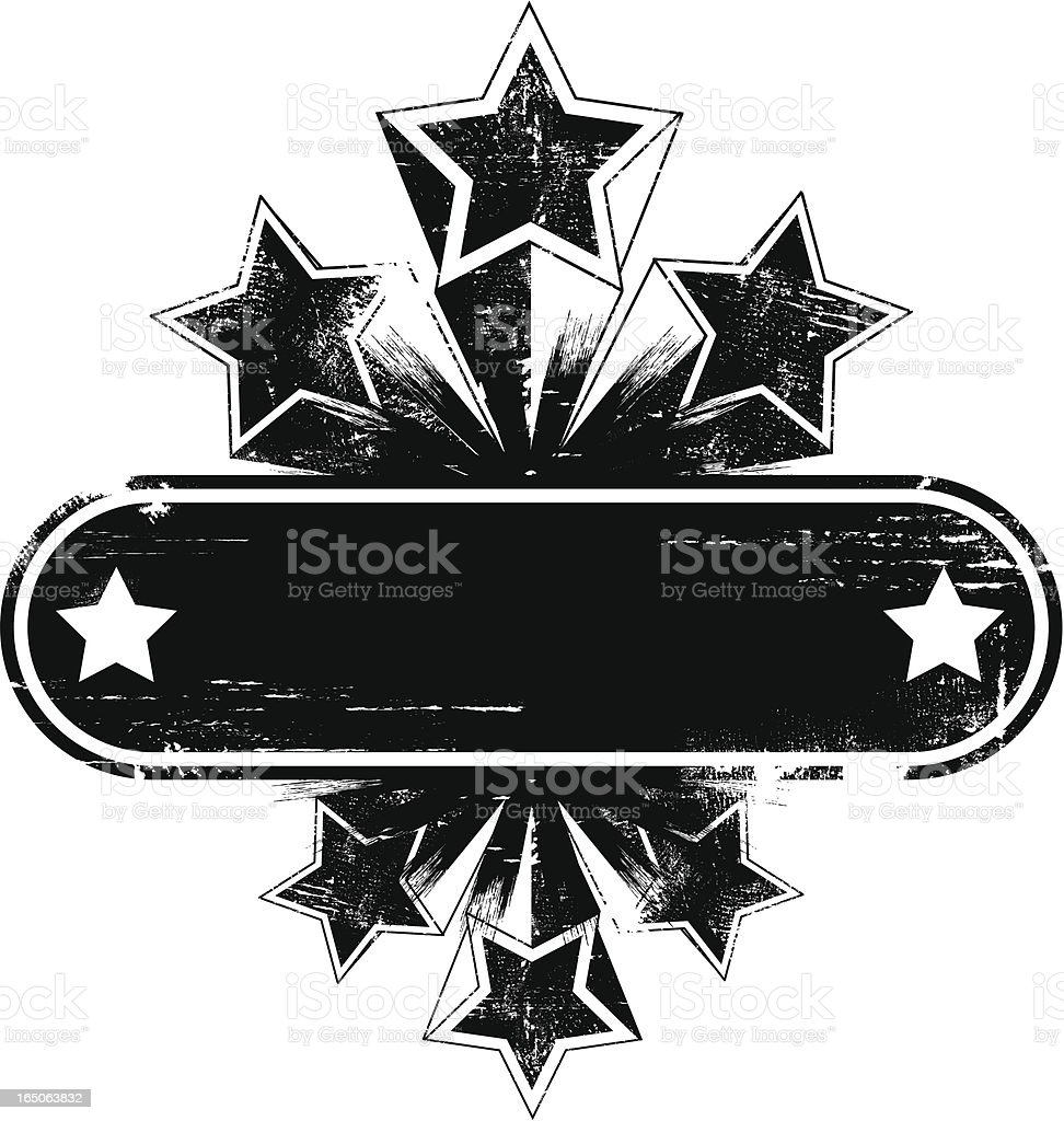 Shooting star banner vector art illustration